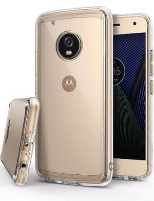 Forro Protector Ringke Fusion Motorola Moto G5 Plus + Vidrio