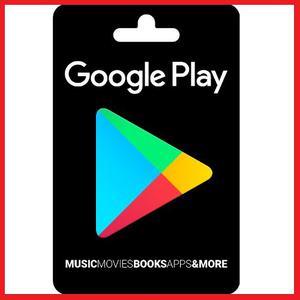 Google Play Store 10 Usd Gift Card Tarjeta Juego Envio Grati