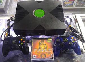 Xbox Clásica Programada + 2 Controles Originales + 5 Juegos
