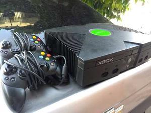 Xbox Con 2 Controles Y Juegos