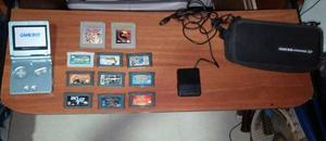 Game Boy Advance Sp + 11 Juegos + Estuche