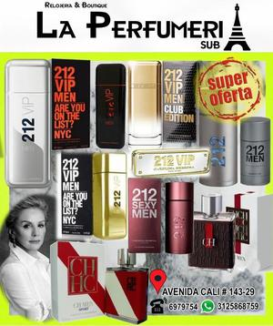 PERFUME IMPORTADO CAROLINA HERRERA 212 VIP PROMOCION 3 X