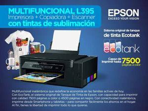 Multifuncional Epson L395 Tintas De Sublimación + Obsequio