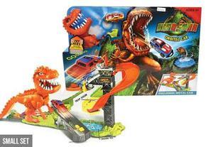 Pista De Carros Dinosaurio Rex Com/hot Wheels Ajd