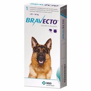 Bravecto Antipulgas Para Perro De 20 A 40 Kg Gratis Envio.