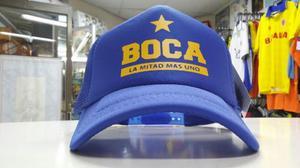 Gorra Boca Juniors Hincha Tipo Camionera Fútbol Argentino