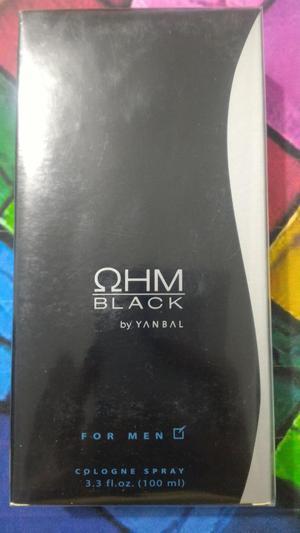 perfume ohm black para caballero
