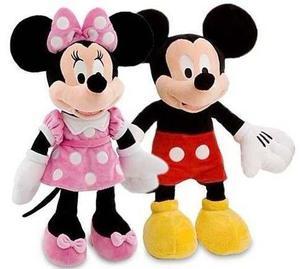 Pareja Mickey Mouse Y Minnie Peluche Con Sonido 50cm