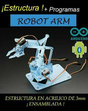 Brazo Robotico Chasis Ensamblado Acrilico