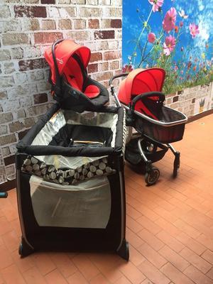 Coche, Corral Y Silla para Carro de Bebe