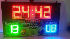 Cronometro Marcador En Led Fùtbol 5 Cancha Sintetica