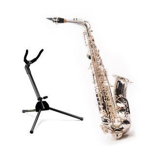 Combo Saxofon Alto Plateado Base Hercules Lyon France Hr
