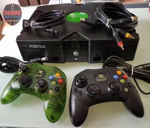 Consola Xbox Clasico Con 2 Controles Y 1 Pelicula Originales
