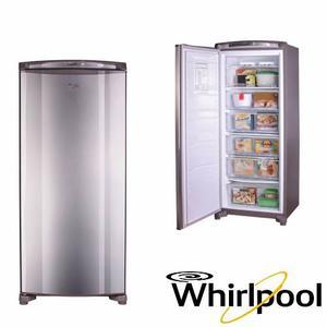 Congelador Vertical Whirlpool 260lts Wvu26ertww Acero