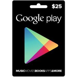 Google Play 25 Usd Tarjeta Gift Codigo