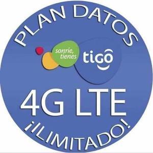 Internet Tigo 30 Gb En 4g Todo El Mes - Sim De Tigo