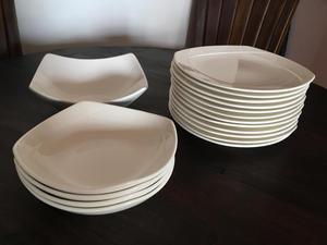 Set de 5 platos decorados posot class for Set de platos