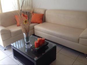 Sofa en L de Cuero Casa Oben
