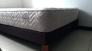 Somier con colchón semiortopedico 120x190