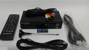 Decodificador Sonivox Tdt Dvb T2 Antena Control Cables