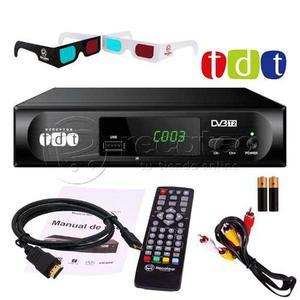 Decodificador Tdt Receptor Tv Digital Cables Hdmi Rca Pilas
