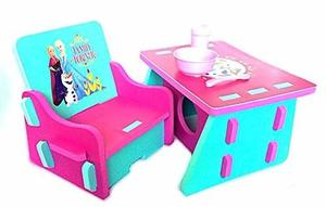 Mesa Y Silla Frozen Disney Niño Niña Infantil