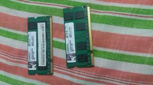 SE VENDE 2 MEMORIAS RAM DDR2 PARA PORTATIL CADA UNA DE 2GB,