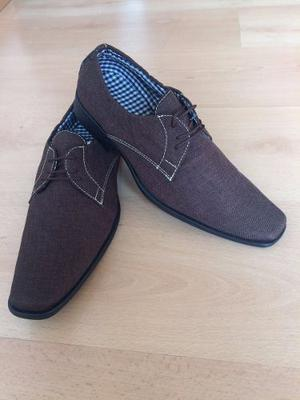 Zapatos Tipo Mocasín Para Hombre Color Cafe
