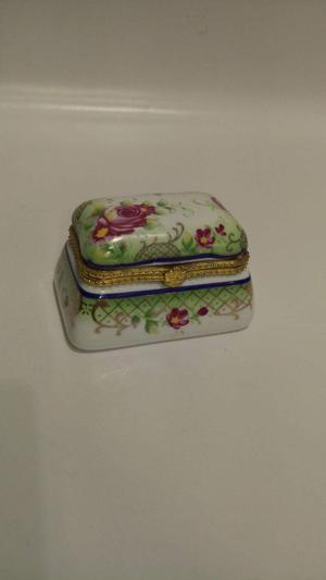 Cofre Joyero Antiguo Frances en Porcelan