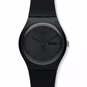 Swatch Black Rebelde Suob702 Reloj Para Hombre