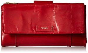 Billetera Fossil Para Mujer Rojo
