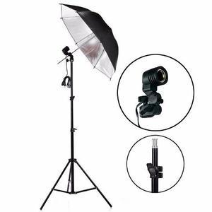 Kit Foto Estudio Tripode 1.92 Mts + Sombrilla Platead+socket