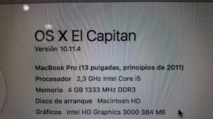 Macbook Pro Core I5 13 Pulgadas