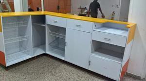 Mueble De Exibicion En L Para Negocio De Alimentos.