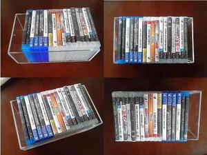 Soporte Acrilico Para 20 Juegos O Peliculas Playstation