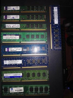 VENDO MEMORIAS RAM DDR3 PARA PC 2GB 4GB PERFECTO ESTADO