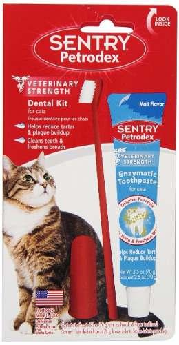 Crema Dental Sentry Para Gatos + Cepillo De Dientes