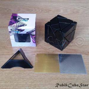 Cubo Rubik Ghost Cube Ninja Ghostcube Negro - 2 Set Stickers