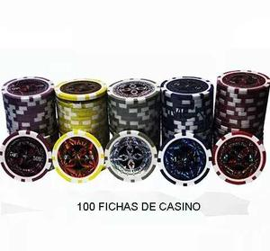 Fichas Poker Lujo Peso Metalizadas  Fichas X100