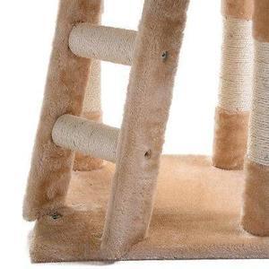 Gato Árbol Poste Rascador Muebles Juego Casa Cama Para