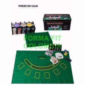 Set De Poker Tipo Casino 200 Fichas, Tapete Blackjack