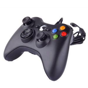 2 Piezas Negro Con Cable Controlador Gamepad Para Microsoft