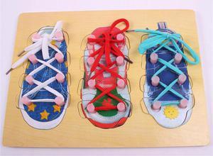 Juguete didáctico amarrar zapatos nuevo