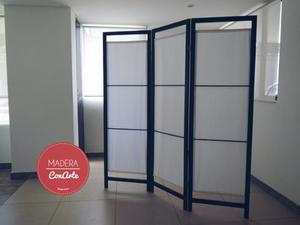 Biombo de luz exclusivo separador de ambientes posot class for Separadores de oficina