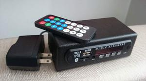 Bluetooth Usb Radio Fm Modernice Su Equipo Aux Remoto