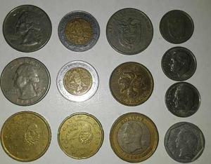 Lote 13 Monedas De Varios Paises