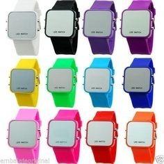 Reloj Digital Tipo Sport Pulsera Silicona Color Fecha Hora