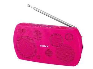 Rosa Sony Radio Portátil Estéreo Srf-18 / P
