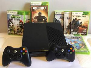 Consola Xbox 360 Slim E 4gb 2 Controles 9 Juegos