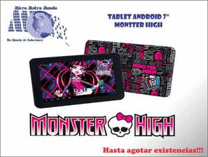 Tablet De 7 Monster High, Ideal Para Niños - Oferta!!!